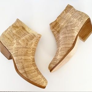 Surface To Air Kim Embossed Snakeskin Ankle Bootie